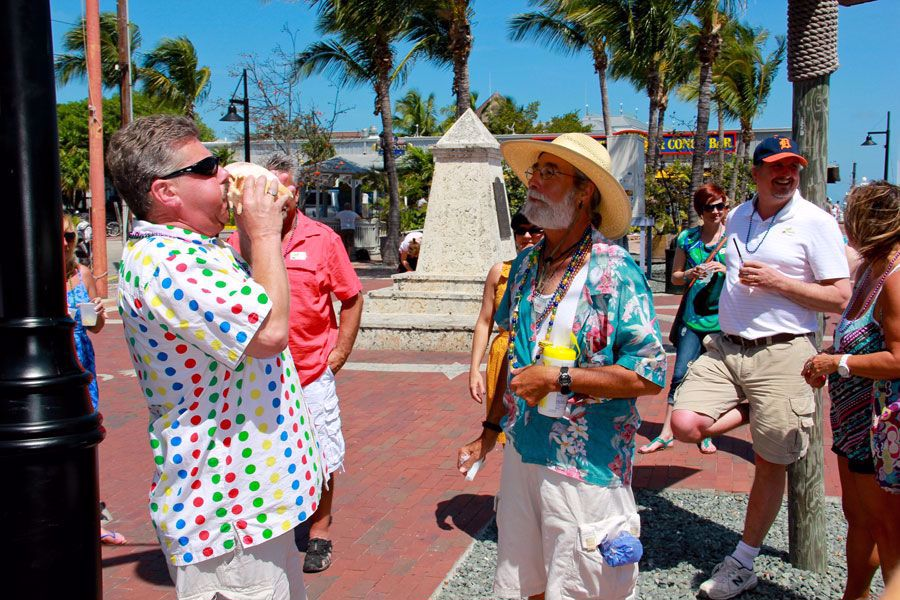 Enjoy the sites and bars of Key West