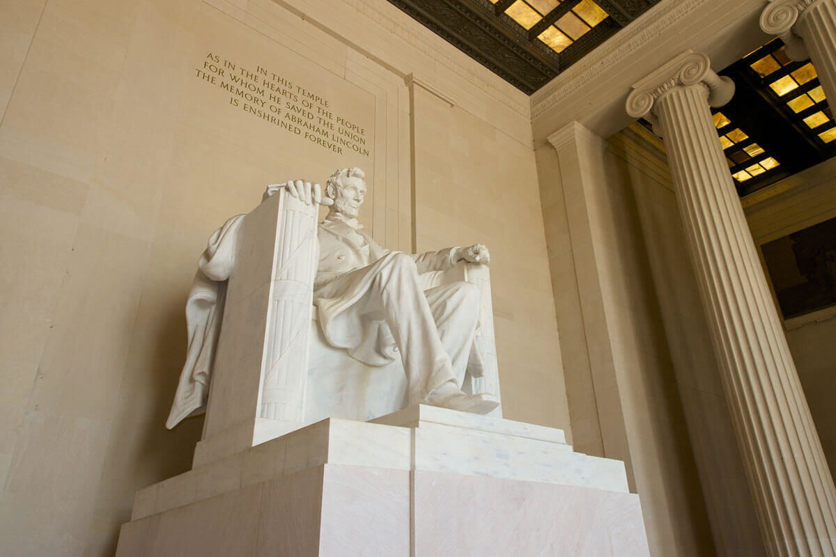 Stop at the Abraham Lincoln Memorial